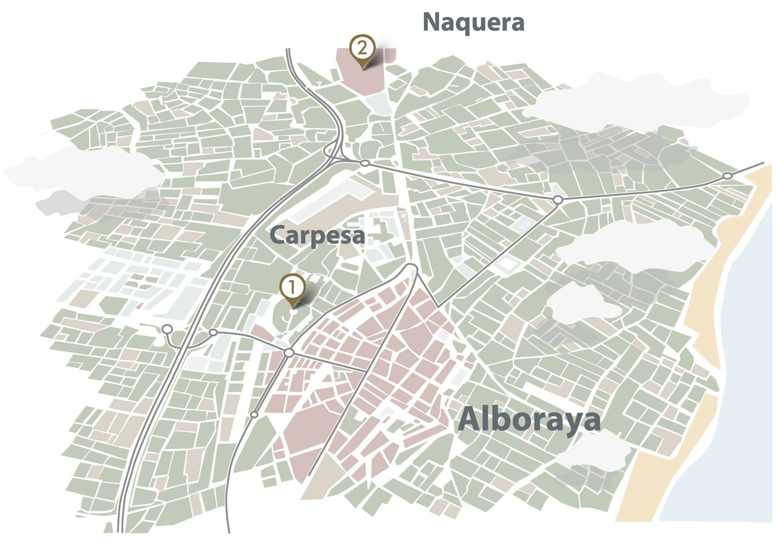 Mapa de ubicación de Greses