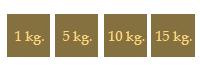 Saco de chufa - 1 a 25 kg.